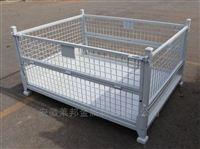 出口工件箱折疊倉儲籠車零件箱金屬周轉箱